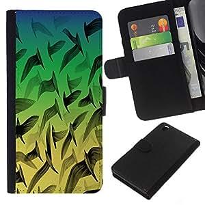 Planetar® Modelo colorido cuero carpeta tirón caso cubierta piel Holster Funda protección Para HTC DESIRE 816 ( Neon Birds Pattern )