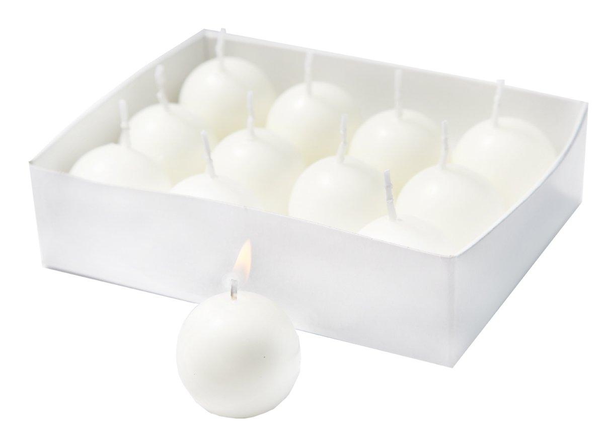 Biedermann 12 Small Ball Candles, White