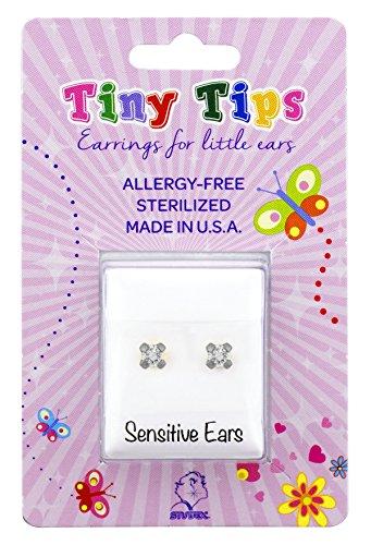 STUDEX Tiny Tips Stud Earrings Tiffany Setting