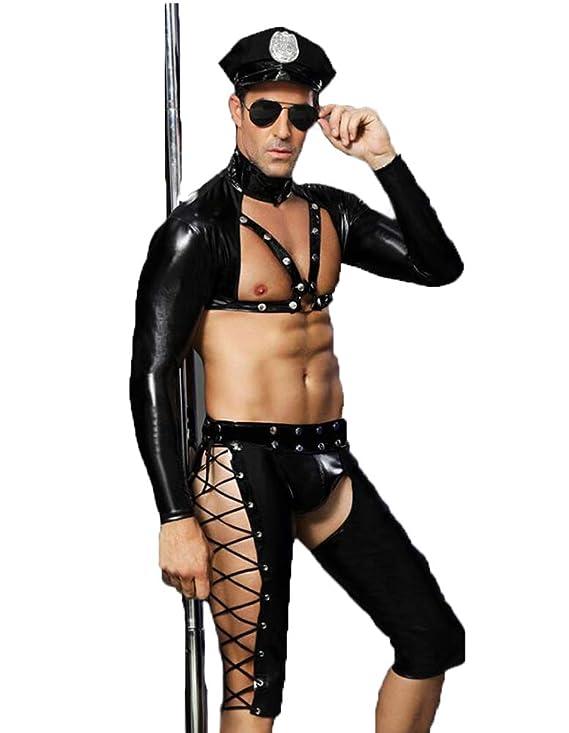 350dc9a49a71c5 L.Atsain Sexy Dessous Für Männer Polizei Outfit,Herren Homosexuell ...