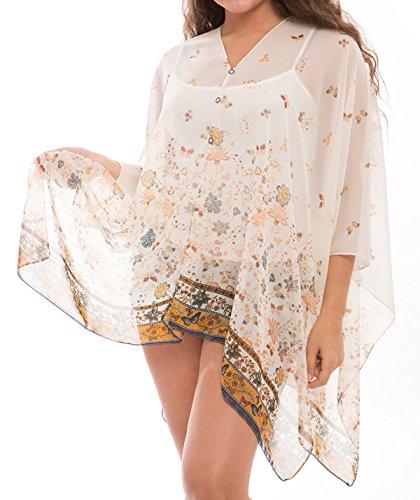 Women's Fashion Beachwear Sheer Chiffon Wrap Tunic Swimwear Cover Up