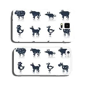 Farm animals set black cell phone cover case Samsung S5