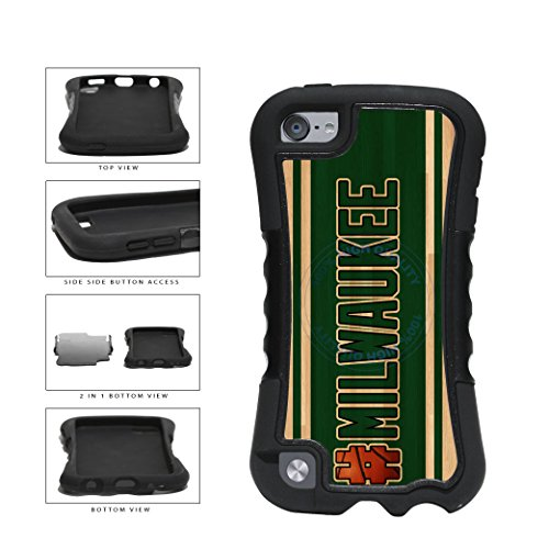 BleuReign(TM) Basketball Team Hashtag Milwaukee #Milwaukee 2-Piece Dual Layer Phone Case Back Cover For Apple iPod Touch 5th Generation