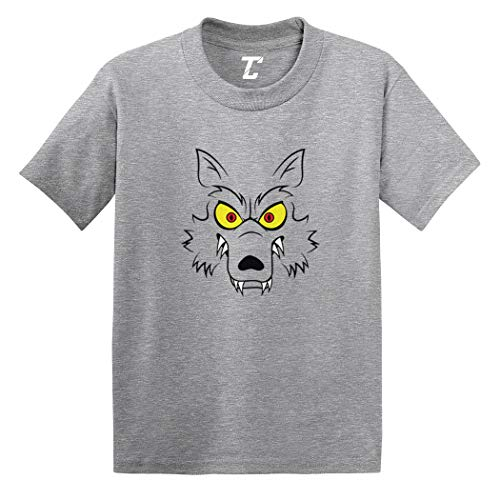 Werewolf Face - Wolf Scary Howl Infant/Toddler Cotton Jersey T-Shirt (Light Gray, 3T) ()