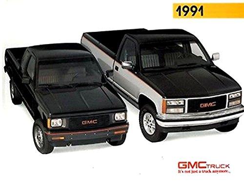 BEAUTIFUL AND ORIGINAL 1991 GMC & VAN DEALER SALES BROCHURE - Includes The Jimmy, Suburban, Rally, Cargo Vans, Safari, S-15 Jimmy