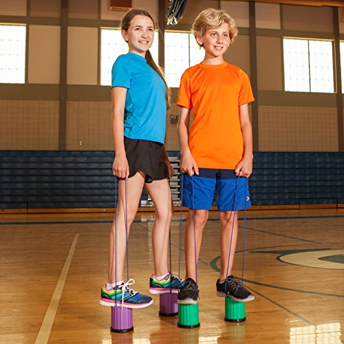 Champion Sports Platform Kid Stilts: Classic Kids Party, Birthday, and Picnic Game Set by Champion Sports (Image #7)