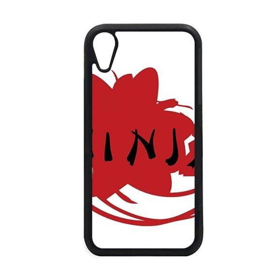 Amazon.com: Japan Ninja Words Sakura Silhouette iPhone XR ...