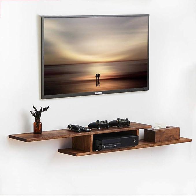 ZPWSNH Soporte de TV para TV Caja de Cable Enrutador Controlador de Medios Control Remoto Reproductor de DVD Máquina de Juegos Estante Flotante Consola de Audio/Video Mueble para TV de Pared: Amazon.es: