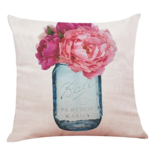 TiTCool 2018 Cushion Cover Hello Spring residence Decor Throw Pillowcase Pillow Covers 18x18 (C)