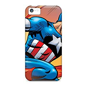 Protective Tpu Case With Fashion Design For Iphone 5c (captain America)