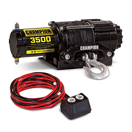 - Champion 3500-lb. ATV/UTV Synthetic Rope Winch Kit