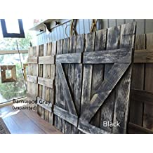 """Rustic Window Shutters (2) 14"""" wide X 36"""" tall for 46"""" X 36"""" Window Pane Mirror (mirror sold separately)"""