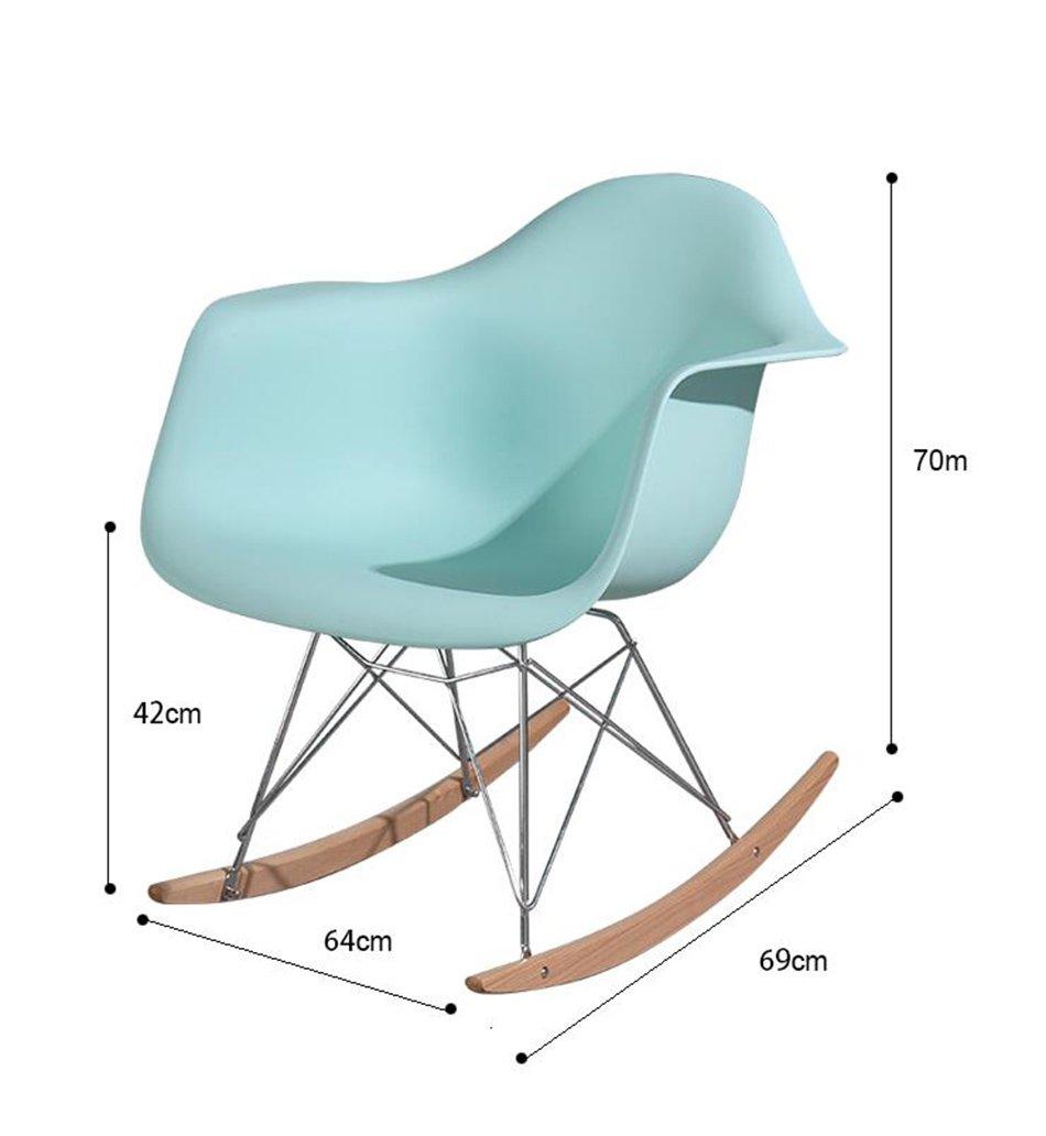 ANDEa Chaise berçante - salon chambre chaise bar Café boutique fleur chaise ne peut pas tourner Creative loisirs