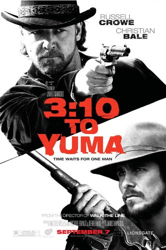 (3:10 to yuma MOVIE POSTER 2 Sided ORIGINAL 27x40 RUSSELL CROWE CHRISTIAN BALE)