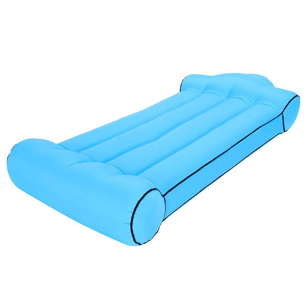 XHCP Aufblasbare Bett Outdoor Sports Lounge Chair Tragbare Faule Couch Wasser Doppel Drifting Bett Tragen 200 kg (Farbe  Rosa30x85x195 cm)  Blau30x85x195cm
