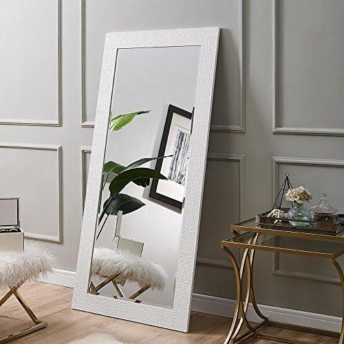 Naomi Home Mosaic Style Full Length Floor Mirror White