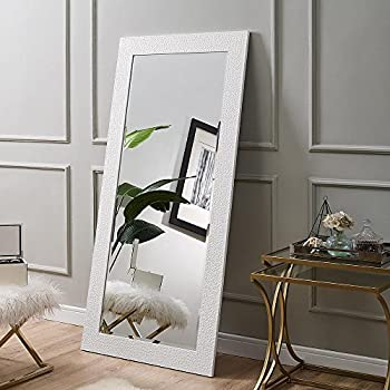 Naomi Home Mosaic Style Full Length Floor Mirror White