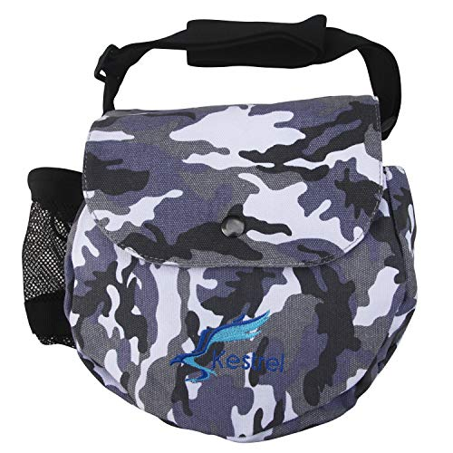 Kestrel Disc Golf Bag | Fits 6-10 Discs + Bottle | for Beginner and Advanced Disc Golf Players | Extremely Durable Canvas | Disc Golf Bag Set | Frisbee Golf Bag (Best Disc Golf Courses In The Us)