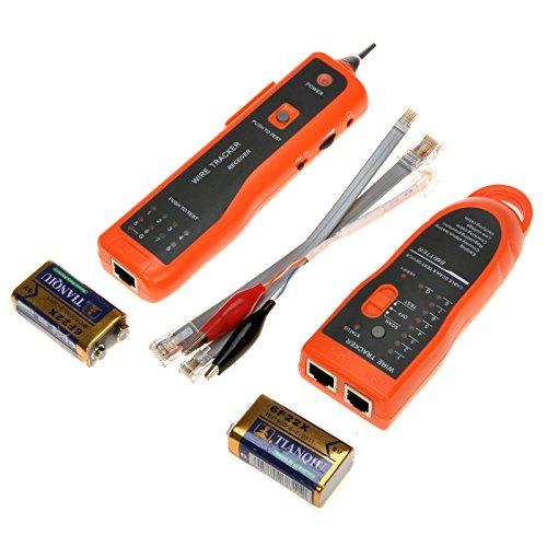 - Tukzer Utility Handheld XQ-350 RJ45 RJ11 Cat5 Cat6 LAN Cable Tester Telephone Wire Tracker Line Network LAN Ethernet Scanning Detector Phone Generator Diagnose Tool Kit