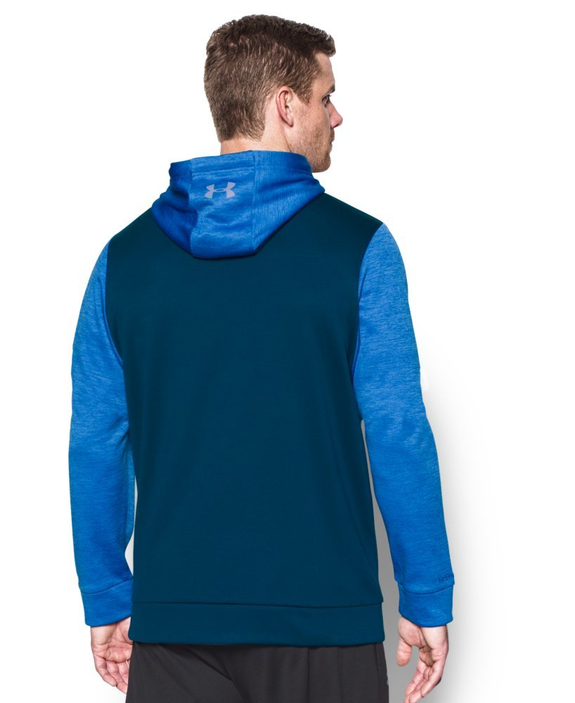 Under Armour Men's Storm Armour Fleece Twist Hoodie, Blackout Navy /Steel, Small by Under Armour (Image #2)