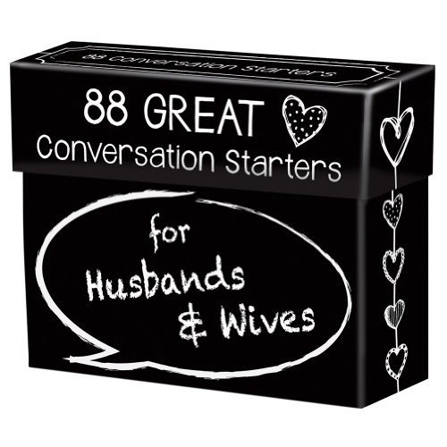 88 Great Conversation Starters for Husbands and Wives - Romantic Card Game for Married Couples - Christian Adult Games, Communication & Marriage Help, Fun Anniversary or Wedding Gifts for the Couple