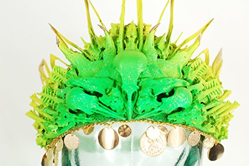 Real Bone Crown - Neon bone decoupage headpiece by Virginia the Wolf