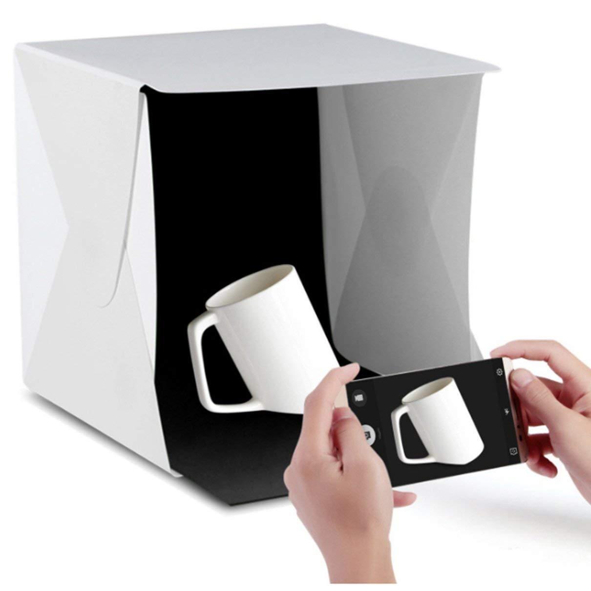 Kit de fotograf/ía de caja de luz port/átil de tienda ligera con luz LED 4 colores de fondo 12X12X12 pulgadas