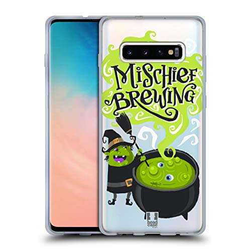 Head Case Designs Witch's Cauldron Halloween Characters Soft Gel Case for Samsung Galaxy S10+ / S10 Plus