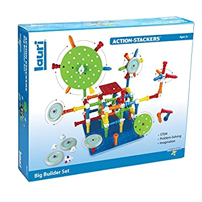 PlayMonster Lauri Action-Stackers - Big Builder Set: Toys & Games
