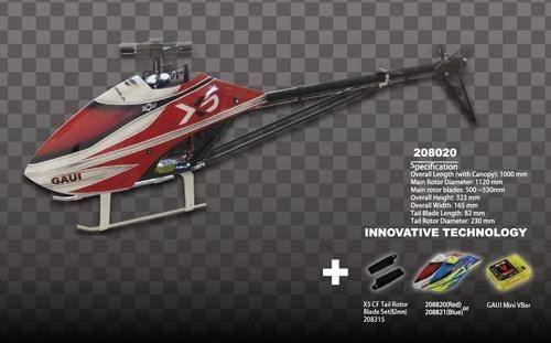 Tail Gaui (Gaui X5 Combo A Kit (Gaui Mini Vbar, X5 Formula Canopy, CF 82mm Tail rotor Blades))