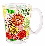 Regalos Flores Y Alimentos Best Deals - Kudos 10 onzas del estampado de flores de cristal taza de té hermoso regalo de la taza de café del cumpleaños