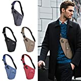 WATERFLY Sling Bag, Lightweight Casual Daypack Chest Shoulder Bag for Men Boy