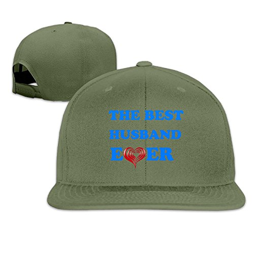Unisex The Best Husband Ever Adjustable Snapback Baseball Cap ForestGreen One Size