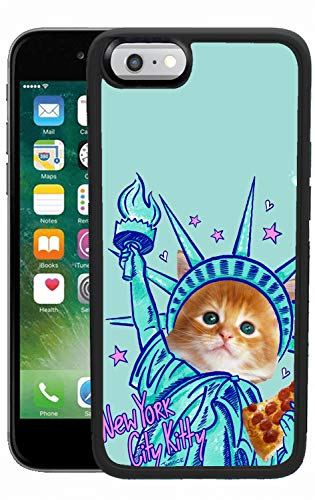 (iPhone 6s Plus 6 Plus Case, New York City Kitty Shock-Absorption TPU Rubber Bumper iPhone 6s Plus 6 Plus Case, Ultra Thin Slim Protective Cover for iPhone 6s Plus 6)