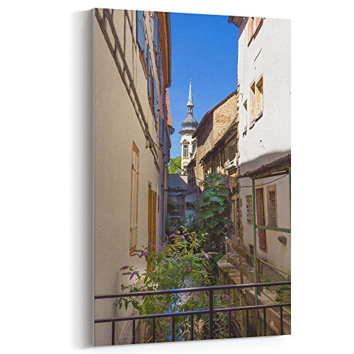 (Westlake Art - Town Building - 5x7 Canvas Print Wall Art - Canvas Stretched Gallery Wrap Modern Picture Photography Artwork - Ready to Hang 5x7 Inch)