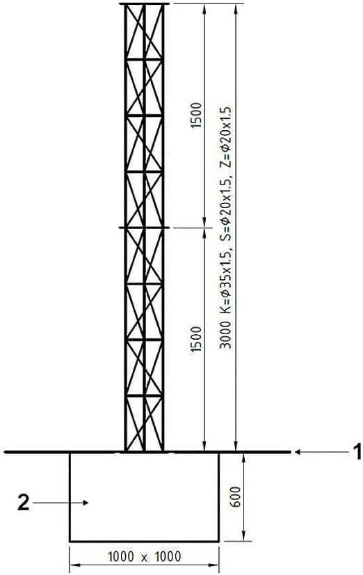 Kit de torre de enrejado de aluminio de 3 m para radio ...