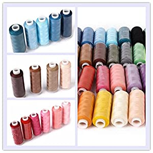 HMMS 30 Color Sewing Thread Polyester 250 Yards Coils for Sewing Hand Machine by HMMS