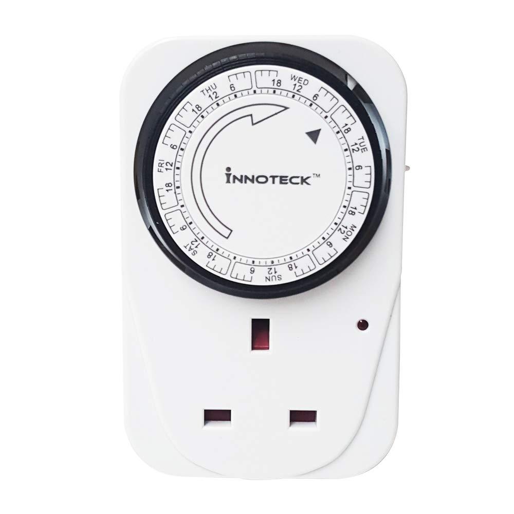 Innoteck DS-2156 7days 24 Hours Indoor Digital Programme UK Mains Socket Timer