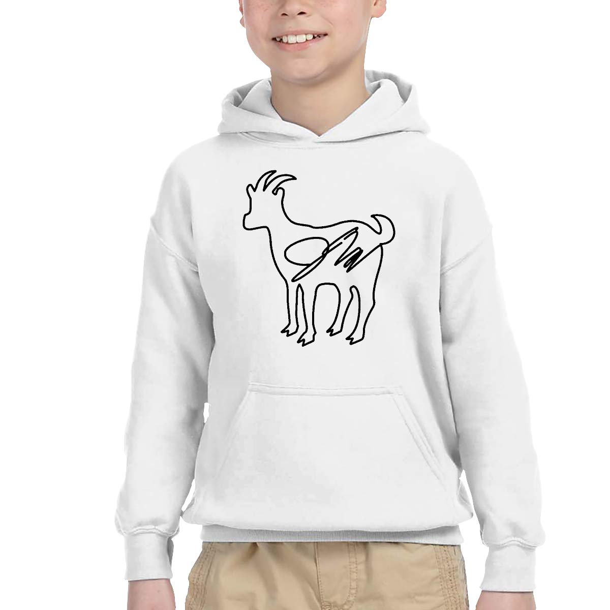 2-6 Year Old Childrens Hooded Pocket Sweater Classical Elegance and Originality Erika Costell Logo White