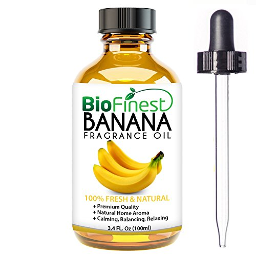 BioFinest Banana Fragrance Oil - 100% Pure & Natural - Fresh Home Scent - Air Refresher - Relaxing Aromatherapy - Skin and Hair Care - FREE E-Book and Dropper (Essential Greens Apple Banana)