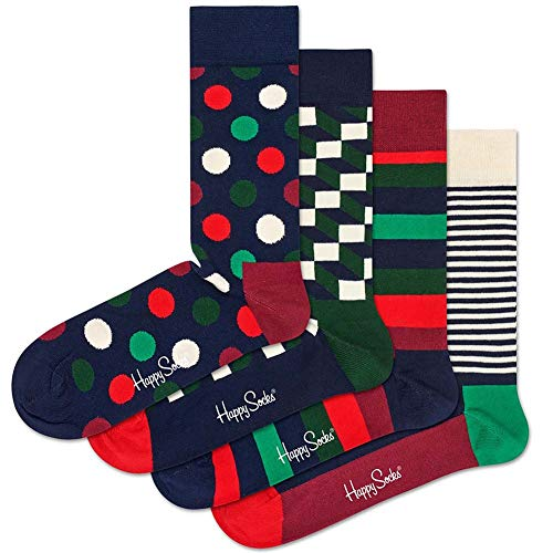 Happy Socks Men's Holiday Big Dot Gift Box Multi Men's Shoe Size 10-13