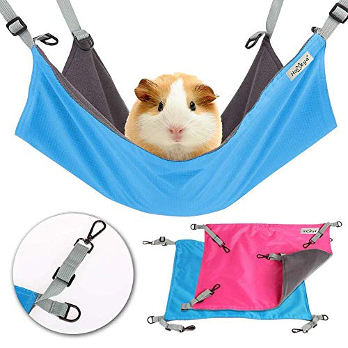 ock Hamster Hanging Toy, Small Pet Pad Bed for Guinea Pig,Chinchilla,Kitten,Cat,Ferret,Mice,Rabbit,Squirrel Playing Cozy Spot-Waterproof Reversible 2 Sides -Use with Crate or Cage ()