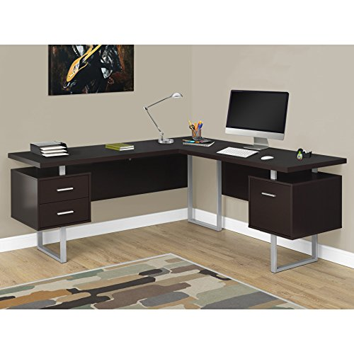 "Monarch Specialties Computer Desk Left or Right Facing Capuccino 70""L"
