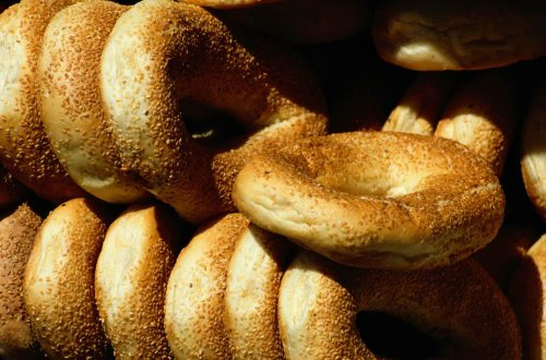 Wallmonkeys Sesame Seed Bagels Peel and  - Seed Bagels Shopping Results