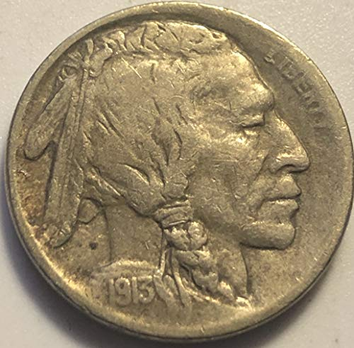 1913 S Buffalo Type I Rare Nickel Choice Very Fine Details