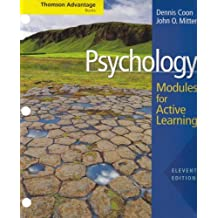 Cengage Advantage Books: Psychology: Modules for Active Learning with Concept Modules with Note-Taking and Practice Exams (Thomson Advantage Books) by Dennis Coon (2008-01-07)