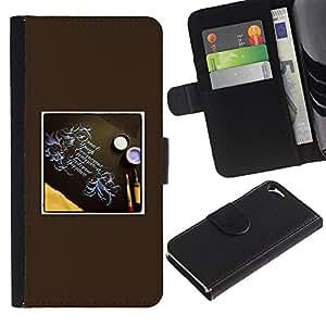 Paccase / Billetera de Cuero Caso del tirón Titular de la tarjeta Carcasa Funda para - cool down - Apple Iphone 5 / 5S