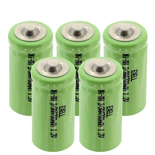 - (5-PACK) Exell 1.2V 2/3AA Size 700mAh NiMH Rechargeable Button Top Batteries use w/electric mopeds meters two radios electric razors toothbrushes cameras mobile phones pagers medical instruments