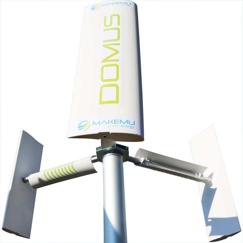 Mini Aerogenerador doméstico Generador eólico DOMUS pequeña Turbina eólica 12 V Vertical aspas eólicas savonius casa terraza Techo jardín