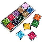 20 Colors Craft Inkpad DIY Finger Print Ink Pad Colorful Stamp Inkpad, Pack of 20